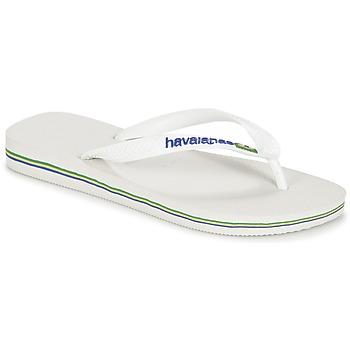 Chaussures Tongs Havaianas BRASIL LOGO Blanc