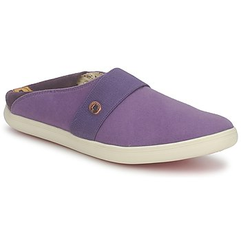 Chaussures Slip ons Dragon Sea XIAN TOILE Prune
