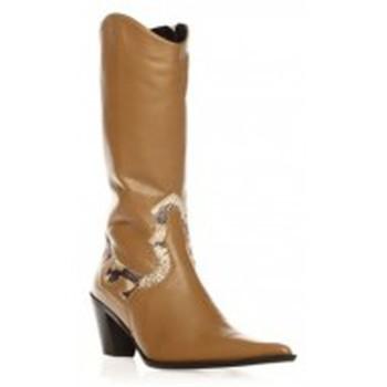 Chaussures Femme Bottes ville Ilario Ferucci Bottes Belem Beige Beige