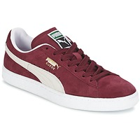 Chaussures Baskets basses Puma SUEDE CLASSIC + Rouge / Blanc
