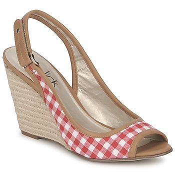 Chaussures Femme Sandales et Nu-pieds StylistClick INES Jude / Naturel Rouge