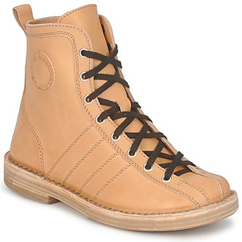 Chaussures Femme Boots Swedish hasbeens VINTAGE BOWLING BOOT Beige