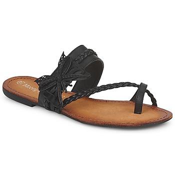 Chaussures Femme Tongs Moony Mood ELIANA Noir