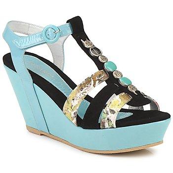 Chaussures Femme Sandales et Nu-pieds Regard RAFAVO Noir / bleu