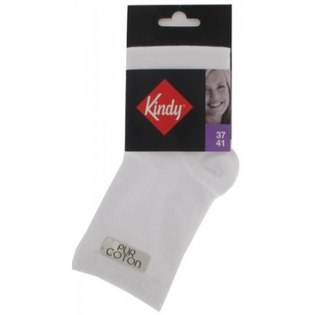 Accessoires Femme Chaussettes Kindy Socquettes pur Coton Blanc