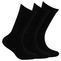 Accessoires Garçon Chaussettes Kindy Pack 3 paires de chaussettes unies jersey Noir