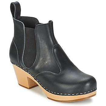 Chaussures Femme Bottines Swedish hasbeens CHELSEA Noir