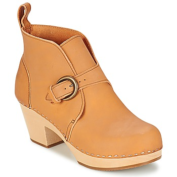 Chaussures Femme Bottines Swedish hasbeens PETRA Naturel