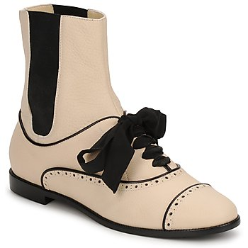 Chaussures Femme Boots Moschino MA2103 Beige