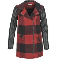 Vêtements Femme Manteaux Noisy May TEXAS Rouge / Noir