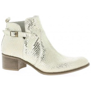 Chaussures Femme Boots Pao Boots cuir python Or