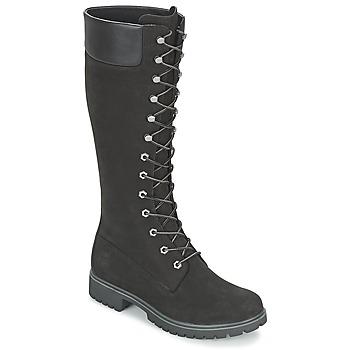 Chaussures Femme Bottes ville Timberland WOMEN'S PREMIUM 14IN WP BOOT Noir Nubuck