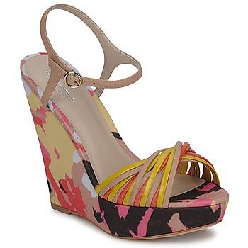 Chaussures Femme Sandales et Nu-pieds Bourne KARMEL Beige / Multicolore