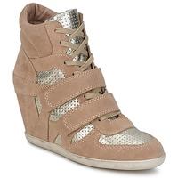 Chaussures Femme Baskets montantes Ash BEA Beige / Or