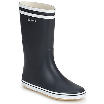 Chaussures Femme Bottes de pluie Aigle MALOUINE Marine / Blanc