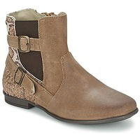 Chaussures Fille Boots Aster DESIA Taupe / Imprimé