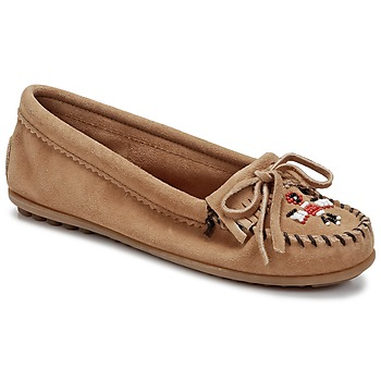 Chaussures Femme Mocassins Minnetonka THUNDERBIRD II Taupe