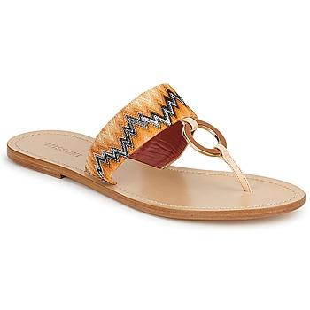 Chaussures Femme Tongs Missoni VM048 Orange