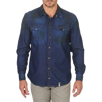 Vêtements Homme Chemises manches longues Freeman T.Porter CORWEND DENIM Bleu