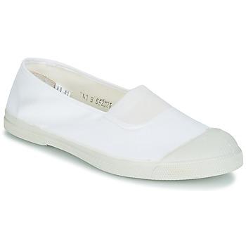 Chaussures Femme Ballerines / babies Bensimon TENNIS ELASTIQUE Blanc