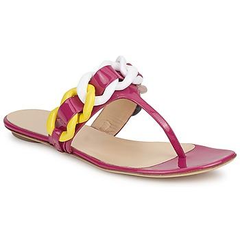 Chaussures Femme Tongs Versus by Versace FSD364C Rose / Blanc / Jaune