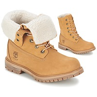 Chaussures Femme Boots Timberland AUTHENTICS TEDDY FLEECE WP FOLD DOWN Cognac clair