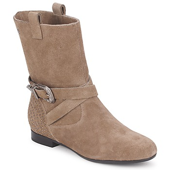 Chaussures Femme Boots Couleur Pourpre TAMA Taupe