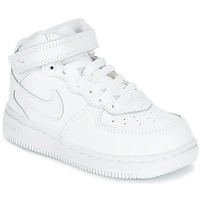 Chaussures Enfant Baskets montantes Nike AIR FORCE 1 MID TODDLER Blanc