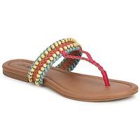 Chaussures Femme Sandales et Nu-pieds Lucky Brand DOLLIS DARK CAMEL/TEABERRY/CAPRI BLUE