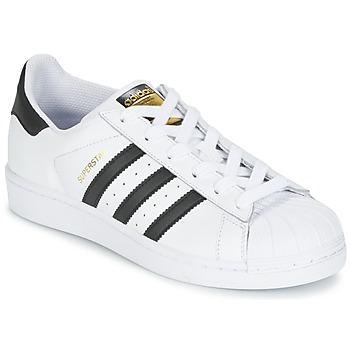 Chaussures Enfant Baskets basses adidas Originals SUPERSTAR J Blanc / Noir