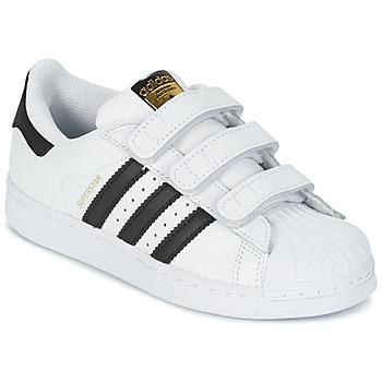 Chaussures Enfant Baskets basses adidas Originals SUPERSTAR FOUNDATIO Blanc / noir