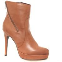 Chaussures Femme Bottines Ilario Ferucci Bottines en cuir Gicanda camel Marron