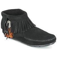 Chaussures Femme Boots Minnetonka CONCHO FEATHER SIDE ZIP BOOT Noir