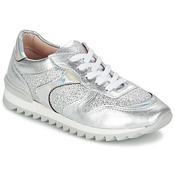 Chaussures Femme Baskets basses Unisa DALTON Argent /Blanc