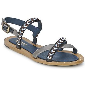 Chaussures Femme Sandales et Nu-pieds Schmoove MEMORY LINK Argent / Marine