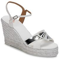 Chaussures Femme Sandales et Nu-pieds Castaner BESSIE Blanc / Argent