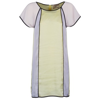 Vêtements Femme Robes courtes Chipie FREGENAL Jaune / Gris
