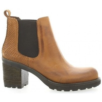 Chaussures Homme Bottines Pao Boots cuir nubuck Cognac
