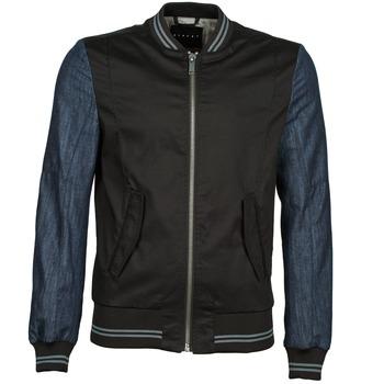 Vêtements Homme Blousons Sisley 2ID2533A9 Noir / Bleu
