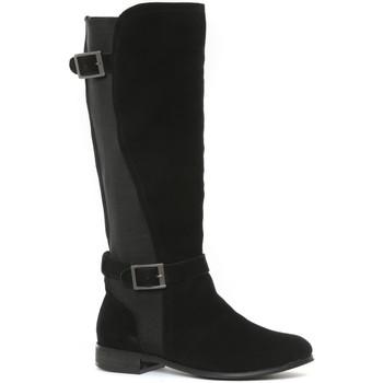 Chaussures Femme Bottes ville Ilario Ferucci Bottes en cuir Cissy noir Noir