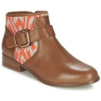 Chaussures Femme Boots Mellow Yellow VABEL Marron / Orange