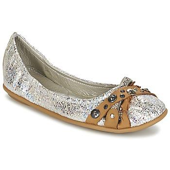 Chaussures Femme Ballerines / babies Regard SOLI Argent / Beige