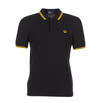 Vêtements Homme Polos manches courtes Fred Perry THE FRED PERRY SHIRT Noir / Jaune