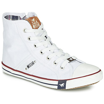 Chaussures Femme Baskets montantes Mustang GALLEGO Blanc