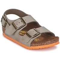 Chaussures Garçon Sandales et Nu-pieds Birkenstock MILANO Taupe