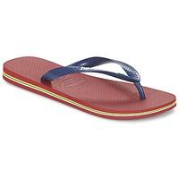 Chaussures Tongs Havaianas BRASIL LOGO Marine / Rouge