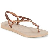 Chaussures Femme Tongs Havaianas LUNA Bronze