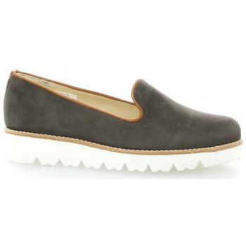 Chaussures Femme Mocassins Exit Mocassins cuir velours Anthracite