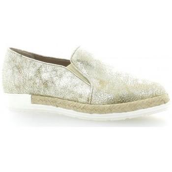 Chaussures Femme Espadrilles Pao Mocassins cuir laminé Or