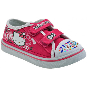 Chaussures Enfant Baskets basses Hello Kitty Velcro Fille strass Baskets basses